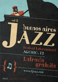 Jim Flora, Buenos Aires jazz Festival Poster