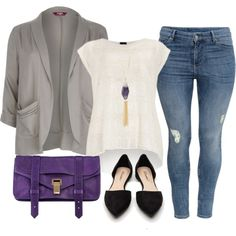 """Violet Femme - Plus Size"" by alexawebb on Polyvore"