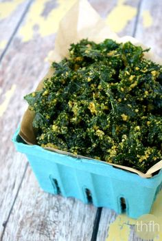 Clean Eating Cheesy (Cheezy) Raw Kale Chips...raw, vegan, gluten-free, dairy-free and paleo-friendly | The Healthy Family and Home