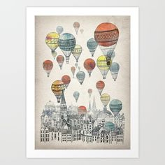 Buy Voyages over Edinburgh Art Print by David Fleck. Worldwide shipping available at Society6.com. Just one of millions of high quality products available.