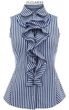 Pin Stripe Ruffle shirt - NED?