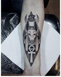 "Explore creative board ""Egyptian Tattoos"" on creativetatto. See more ideas about Egyptian tattoo, Tattoos and Egypt tattoo. Ankh Tattoo, Anubis Tattoo, Alien Tattoo, Horus Tattoo, Tattoo Ink, Hand Tattoos, Body Art Tattoos, Sleeve Tattoos, Egyptian Eye Tattoos"