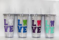 Personalized Dentist or Dental Hygienist Tumbler  by JKTrends