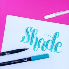 We leave for vacation super early tomorrow morning so I should be packing right now, but is sharing 6 Ways to Shade… Hand Lettering Fonts, Doodle Lettering, Creative Lettering, Lettering Tutorial, Brush Lettering, Font Art, Lettering Ideas, Brush Script, How To Write Calligraphy