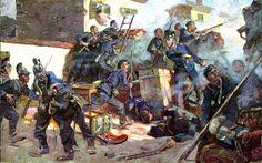 1870 Bavarians at the Battle of Chatillon. Franco-Prussian War - Siege of Paris DateOctober 13, 1870 LocationChâtillon, Hauts-de-Seine, Île-de-France minor French victory