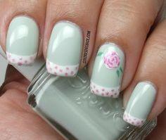 Very Pretty. Though I'll never do this myself.  Colores de Carol: Essie Absolutely Shore