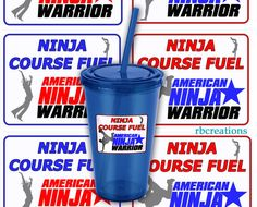 Stickers for American Ninja Warrior Birthday Party  by rbcreation