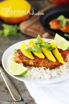 Sweet Paprika Chicken {only 5 ingredients!} - Creme de la Crumb