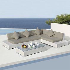 Salotto da giardino Sesimbra Bianco - 5 posti : scegli tra tutti i ...