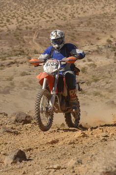desert racing... something he did in his past (younger) life! LOL