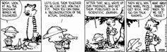 Calvin and Hobbes find dinosaur bones