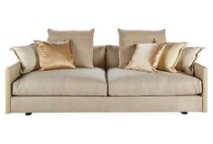"""Wally 82"""" Quilted Sofa, Beige"""