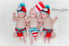 Thing 1  Thing 2  Cat in the Hat hats  by Cozybabycrochet88, $65.00