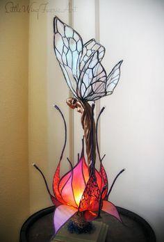 Silk Flower and Faerie Lights — Little Wing Faerie Art lotus sprite.jpg Silk flower and butterfly lamp Butterfly Lamp, Flower Lamp, Flower Lights, Hanging Lights, Fairy Lights, Hanging Lamps, Lampe Art Deco, Fairy Lamp, Unique Lighting