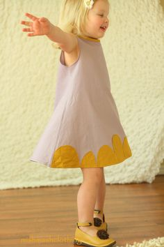 Girls Dress Easter dress  lavender, mustard yellow, linen Made to Order.  Etsy.