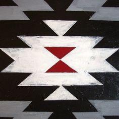 Navajo rug blanket painting by mediumgrey on etsy