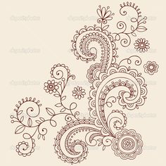 Paisley in white ink!