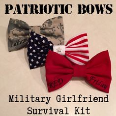 The Military Girlfriend Survival Kit- Patriotic Bows Bundle (Army, Marines, US Navy, Air Force, Coast Guard) by Patriotic Bows on www.patrioticbows.com