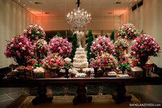 Decoração Tons de Rosa | Vestida de Noiva | Blog de Casamento por Fernanda Floret