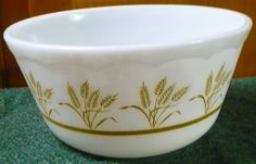 Hazel Atlas  Gold Wheat Mixing Bowl  by pittsburgh4pillows on Etsy, $12.00