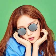 Lee Sung Kyung - Photoshoot for Scene Number For - Celebrity Nude Leaked! Lee Sung Kyung Photoshoot, Round Sunglasses, Mirrored Sunglasses, Joo Hyuk, Tumblr Girls, Celebrity Pictures, Kdrama, Scene, Actresses