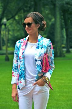 For All Things Lovely /Floral blazer