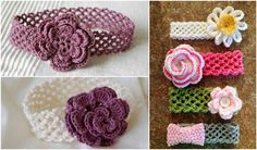 "This beautiful headband is based on the pattern ""The Genius Headband"". It is an easy and quick pattern and you can make it with any yarn and hook. You can make it in any size you want. You can add any flower to it, crocheted or fabric. If you don't already have your favourite flower pattern, you will find a few flower"