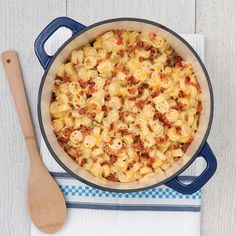 Stovetop Green Chile and Bacon Macaroni and Cheese // Taste of the South Magazine