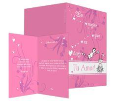 Tu amor me vuelve loco (rosa) - #felicitación de #SanValentin
