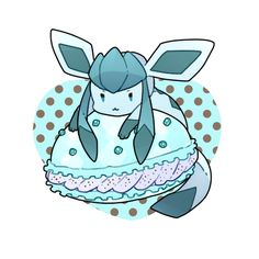 Glaceon likes ice cream filled macrons