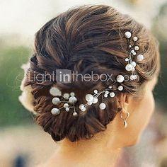 2016年 成人用 人造真珠 かぶと-結婚式 / パーティー ヘアピン 6個 コレクション – ¥432