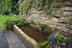 Image of Stone watering trough in Chiiping, Lancashire | David Poole