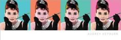Breakfast at Tiffany's Pop Art Classic Movie Poster Print (Audrey Hepburn) 12x36