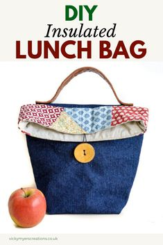 0fc12f3db8 19 Best Lunch bag tutorials images | Sewing tutorials, Sewing crafts ...