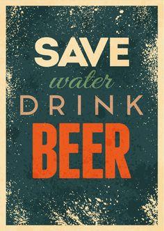 Save water, drink beer | Humor | Echte Postkarten online versenden…