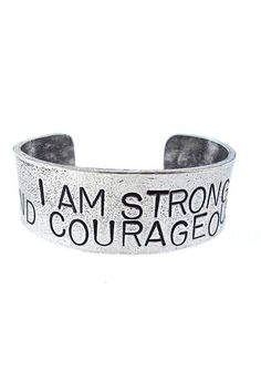 I am Strong and Courageous Cuff ♥