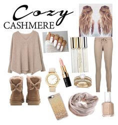 """Cozy cashmere"" by rainn1233 on Polyvore featuring MANGO, Chinti and Parker, UGG, Donna Karan, Casetify, Chico's, Allurez and Bobbi Brown Cosmetics"