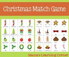 Christmas Match Game  - Mama's Learning Corner