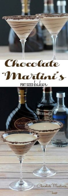 Enjoy girls night in with these decadent Chocolate Martinis! The perfect blend o… Enjoy girls night in with these decadent Chocolate Martinis! The perfect blend [.