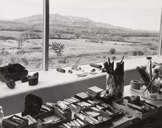 Studio of Georgia O'Keeffe, 1960 (New Mexico) Photograph: Laura Gilpin