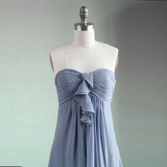 Sadie's Wedding!!! Wedding dress  gray chiffon party dress bridesmaid by RenzRags, $98.00