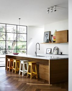 If you& after timeless kitchen inspiration before a build or renovation, l. If you& after timeless kitchen inspiration before a build or renovation, look no further than these neutral kitchens design ideas that are anything but boring. Timber Kitchen, Old Kitchen, Kitchen Decor, Kitchen Chairs, Kitchen Shelves, Neutral Kitchen Designs, Timeless Kitchen, Turbulence Deco, Quirky Home Decor