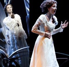 Original costume on left and on the Australian on the right