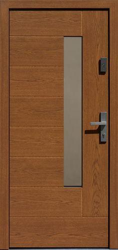 Dębowe wejściowe drzwi zewnętrzne 414,12 ciemny dąb