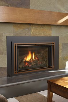 Quickly and easily replace your wood fireplace with a new gas insert. Say goodbye to wood and hello to gas! Fireplace Inserts, Wood Fireplace, Gas Insert, Traditional Fireplace, Stone Work, Old Wood, Home Renovation, Regency, Firewood