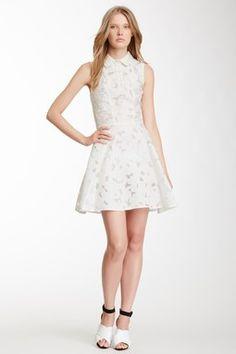 Jill Stuart Nina Silk Blend Sleeveless Dress