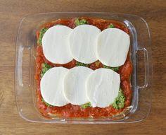 Virtually Homemade: Spaghetti Squash Lasagna with Basil Walnut Pesto #comfortfoodfeast #casserole