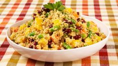 Couscous and Three-Bean Salad - A delightful summer vegetarian salad.