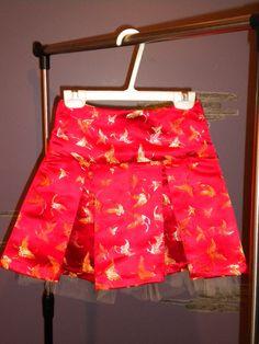 Silky butterfly skirt for girl