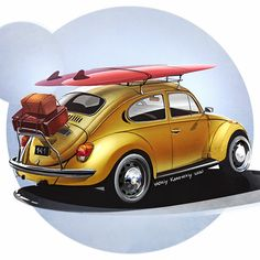 Old Bug, Cassandra Peterson, Car Drawings, Automotive Art, Vw Beetles, Cars And Motorcycles, Hot Rods, Volkswagen, Tattoo Designs